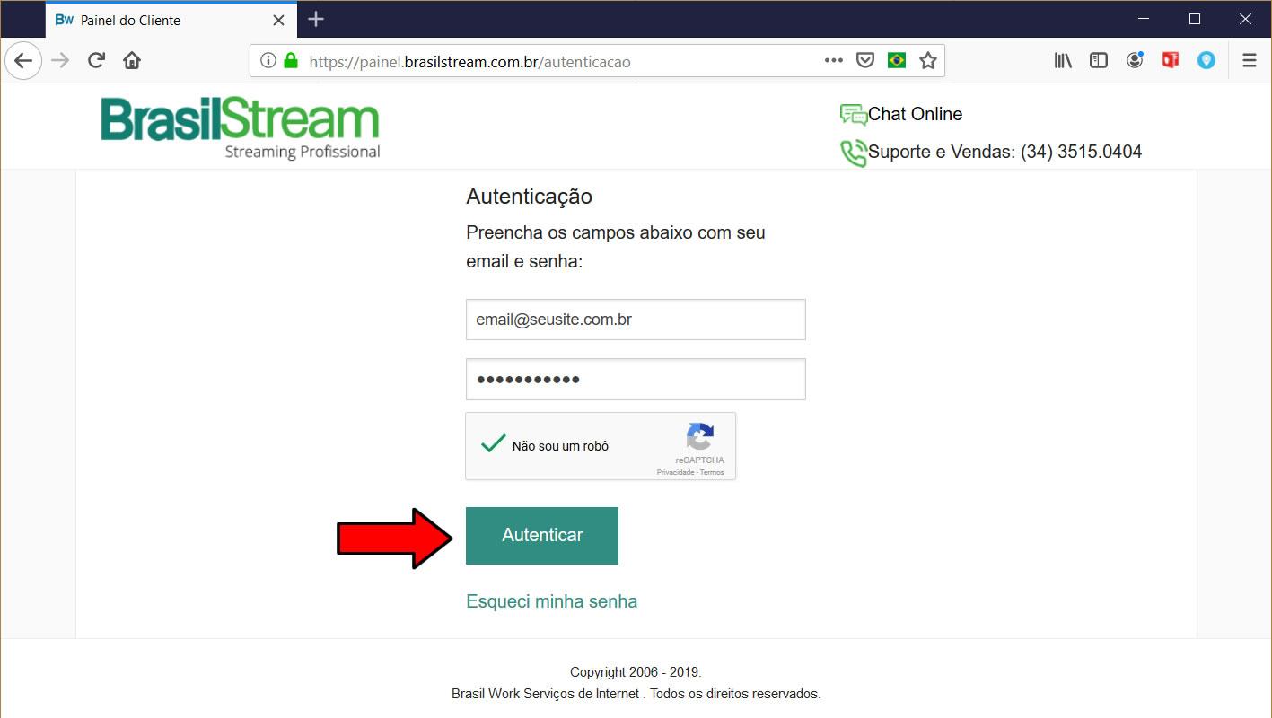 painel Brasil Stream login